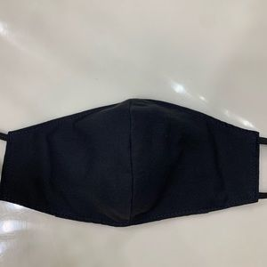 Hand Crafted Accessories - BLACK TRIPLE LAYERED FACE MASK